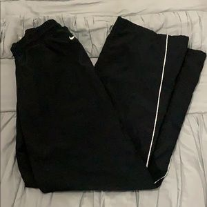 Nike Warm Up Pants with white stripe